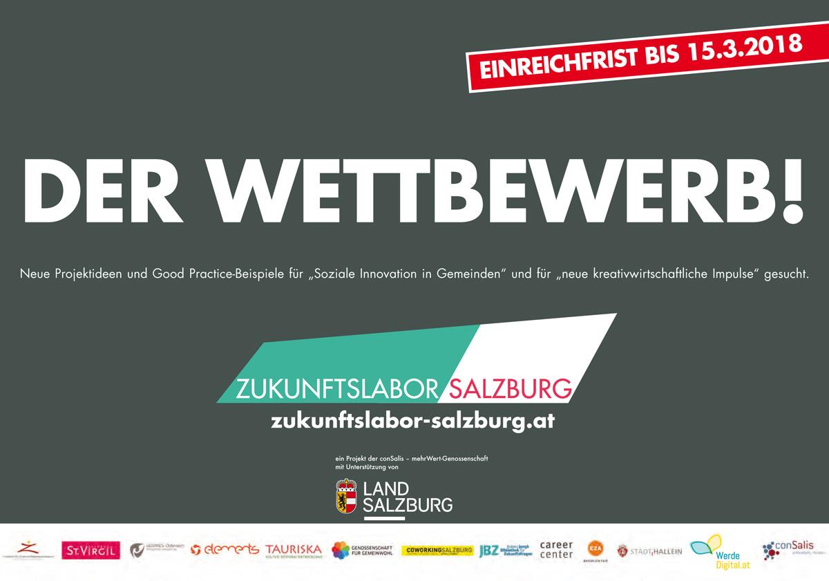 Berthold: Einreichungen für kreative Ideen zum Zukunftslabor Salzburg bis 15. März2018
